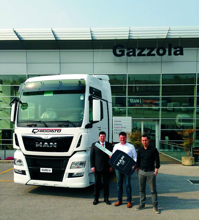 Consegnato il primo trattore MAN TGX Euro 6 alla Chiggiato Trasporti di Padova