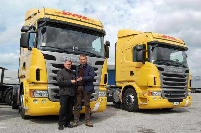 Sette trattori Scania G440 per la Compagnia Trasporti Integrati di Livorno, azienda che movimenta merci per DHL