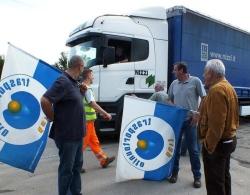 A Piombino (LI) è tregua tra Lucchini e autotrasportatori