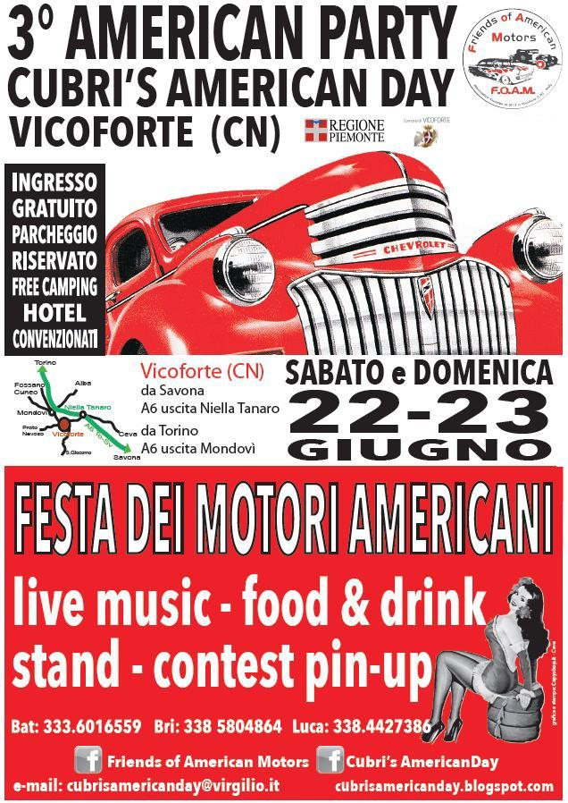 A Vicoforte (CN) va in scena la festa dei motori americani 2013