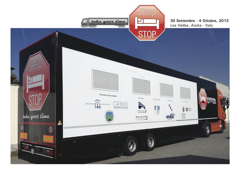 "Iveco sostiene il progetto ""SLEEP STOP, take your time"""