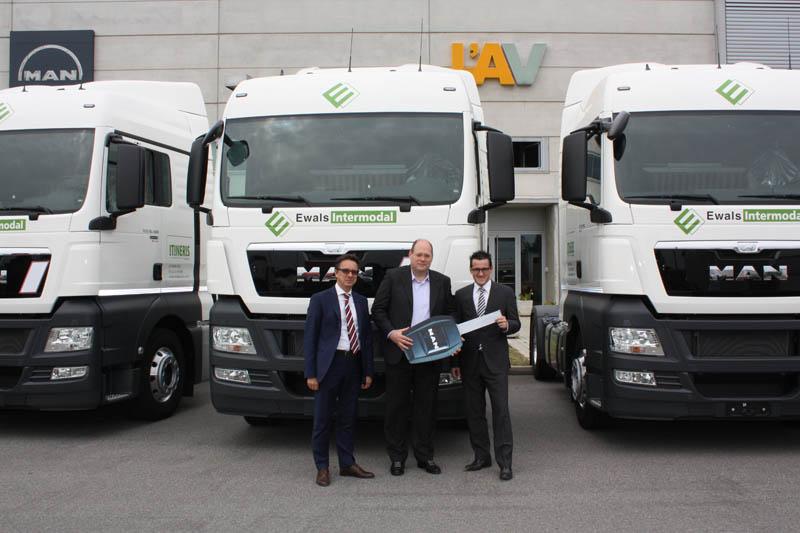 Ewals Intermodal sceglie 25 trattori MAN TGX per l'intermodalità