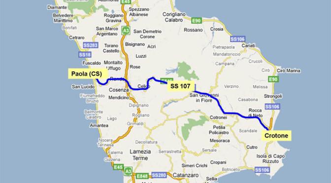 """Cosenza, limitazioni su SS107 """"Silana Crotonese"""" tra Spezzano e Fago del Soldato"""