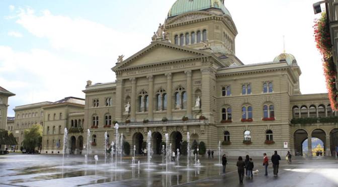 manifestazione autotrasportatori svizzeri a Berna