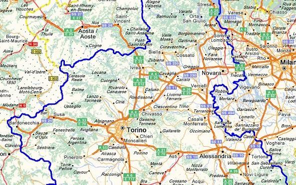 Piemonte Cartina Stradale.Piemonte Limitazioni Al Traffico Su Strade Statali Della Regione