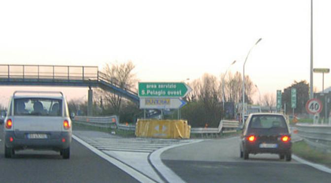 A13 Bologna Padova, stanotte chiusa Area di servizio Pelagio Ovest