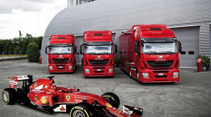 Tre Iveco Stralis Hi-Way per la Scuderia Ferrari Formula 1