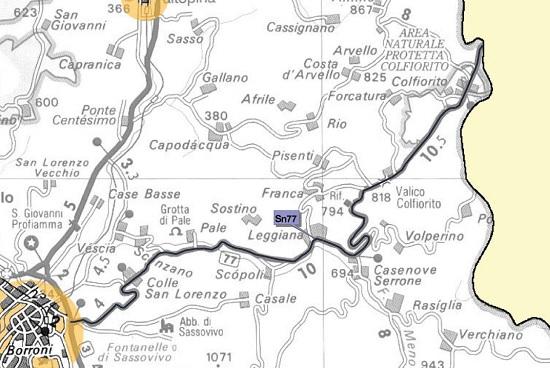 Limitazioni periodo invernale su Statale 77Var della Val di Chienti