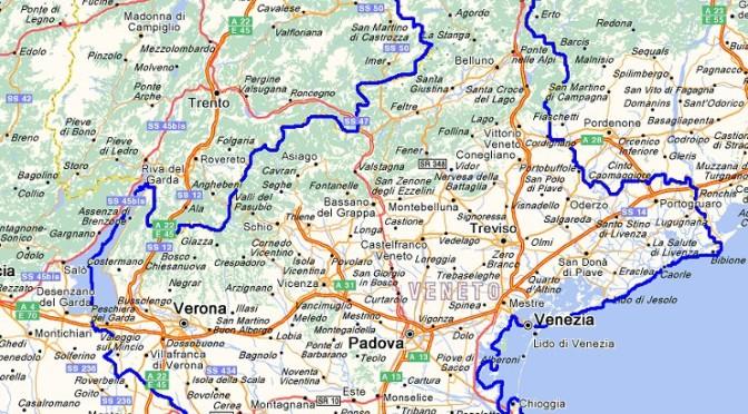 Veneto, limitazioni su alcune strade della regione
