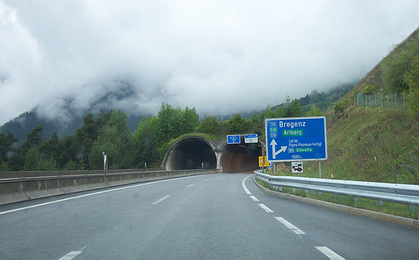 Austria, inerruzione Arlberg Tunnel 21/4-14/11/2015