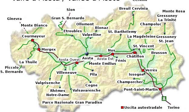 Valle d'Aosta, limitazioni su Statale 26 e Statale 27