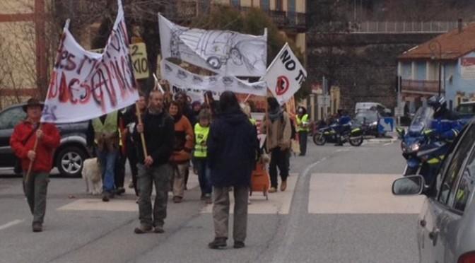 Manifestazione contro il Tenda Bis in Valle Roja