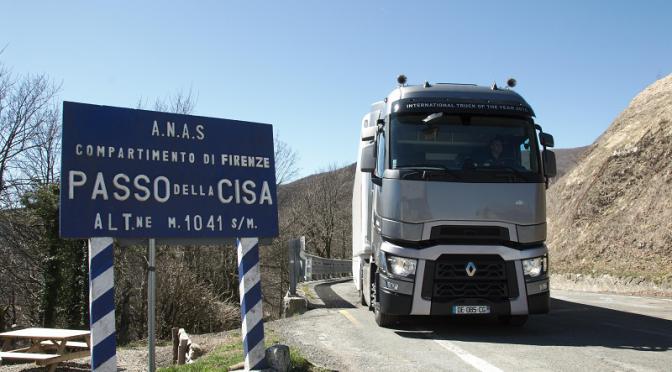 Alla riscoperta della Cisa con il Renault Trucks T 520 HSC