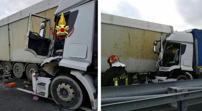 Tamponamento tra mezzi pesanti sulla Roma-Civitavecchia