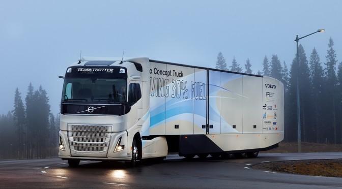 Testata catena cinematica ibrida per trasporti a lungo raggio su prototipo Volvo Trucks