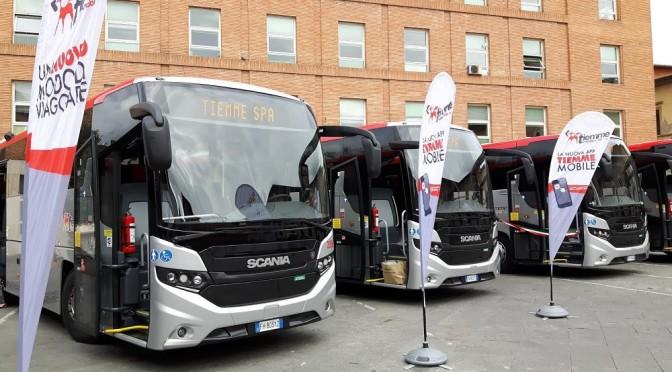 Nuovi autobus Scaniaper il trasporto extraurbano in Toscana di Tiemme Spa