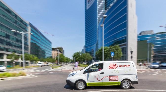 Arcese introduce il primo mezzo totalmente elettrico per la consegna in centro città