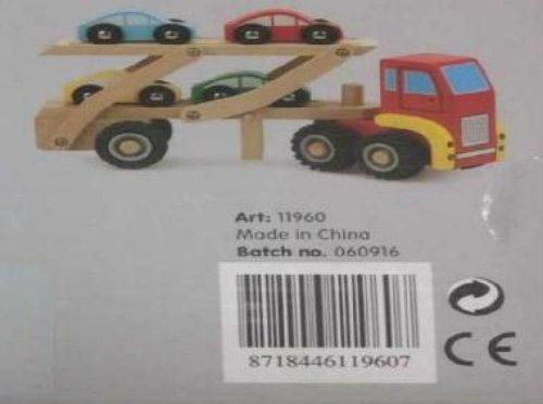Il giocattolo 'Car trasporter' tolto dal mercato, può provare soffocamento