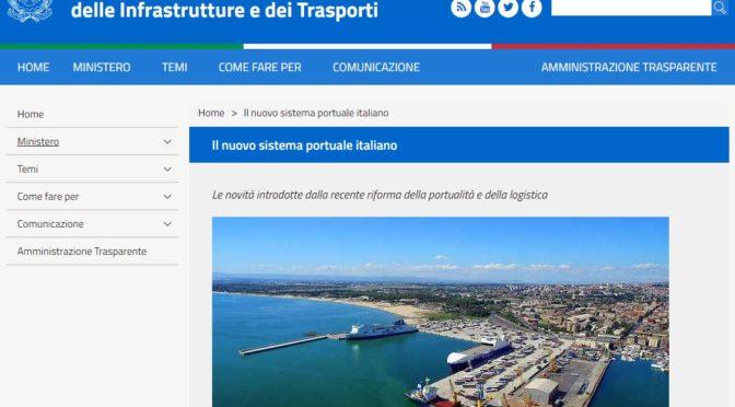 Il nuovo sistema portuale italiano in una mappa interattiva