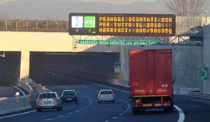 Rincaro Autostrade: nessuna stangata per famiglie e imprese clienti di A58-TEEM