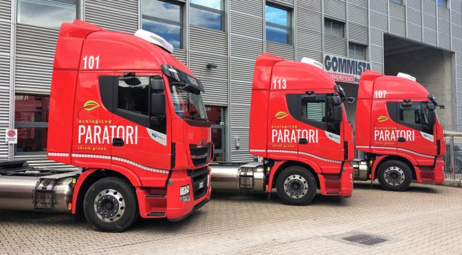 Iveco consegna 20 Stralis NP 460 LNG alla Cooperativa Paratori di Genova per il trasporto siderurgico verso la Francia