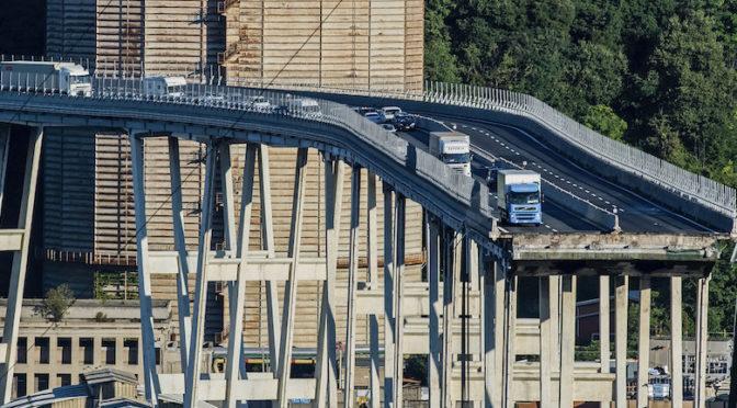 """""""Il crollo del ponte Morandi costa 2 milioni di euro al giorno agli autotrasportatori"""""""