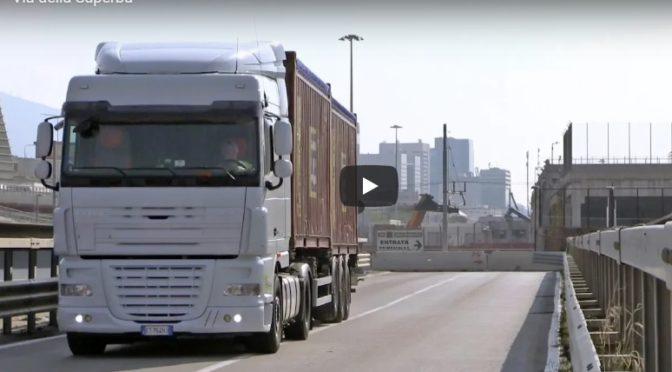 Genova, inaugurata via della Superba: la strada riservata ai mezzi pesanti (VIDEO)