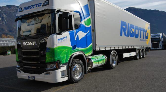 Alla Autotrasporti Rigotto il primo veicolo LNG Scania in Trentino–Alto Adige