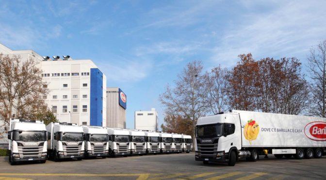 Per Barilla veicoli a LNG Scania per ridurreemissioni inquinanti del trasporto su gomma