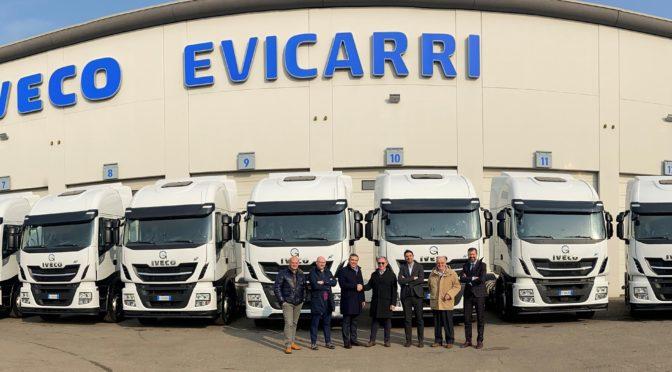 All'azienda Gazzetti di Sassuolo 10 nuovi mezzi pesanti Iveco a gas naturale