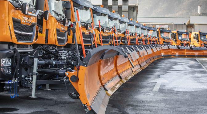 Ad Anas 42 veicoli Iveco attrezzattati per la rimozione della neve