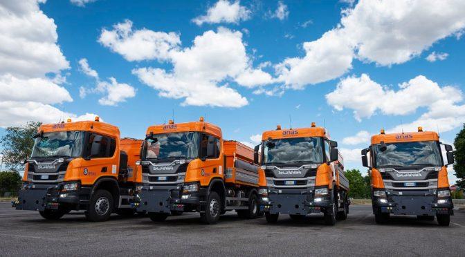Scania consegna ad Anas 6 veicoli per sfidare gli inverni più rigidi