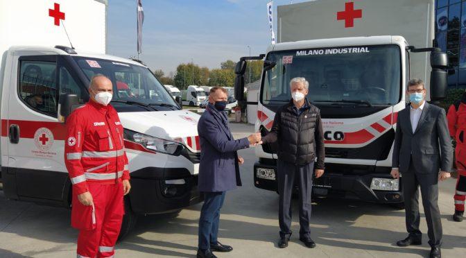 Iveco e Milano Industrial a fianco della Croce Rossa per fronteggiare l'emergenza Covid-19