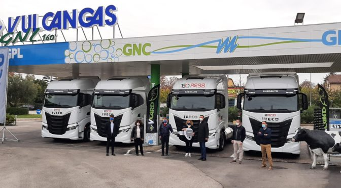 Cinque Iveco S-Way NP per Autotrasporti Rattini Angelo di Sant'Arcangelo di Romagna
